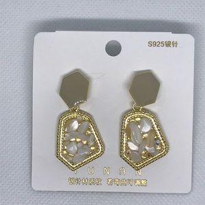 Jewelry - Geometric Stone Earrings